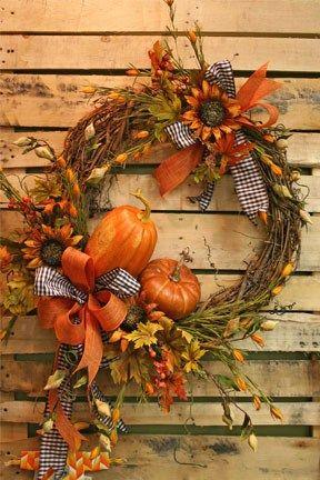 jesenni veniec na dvere