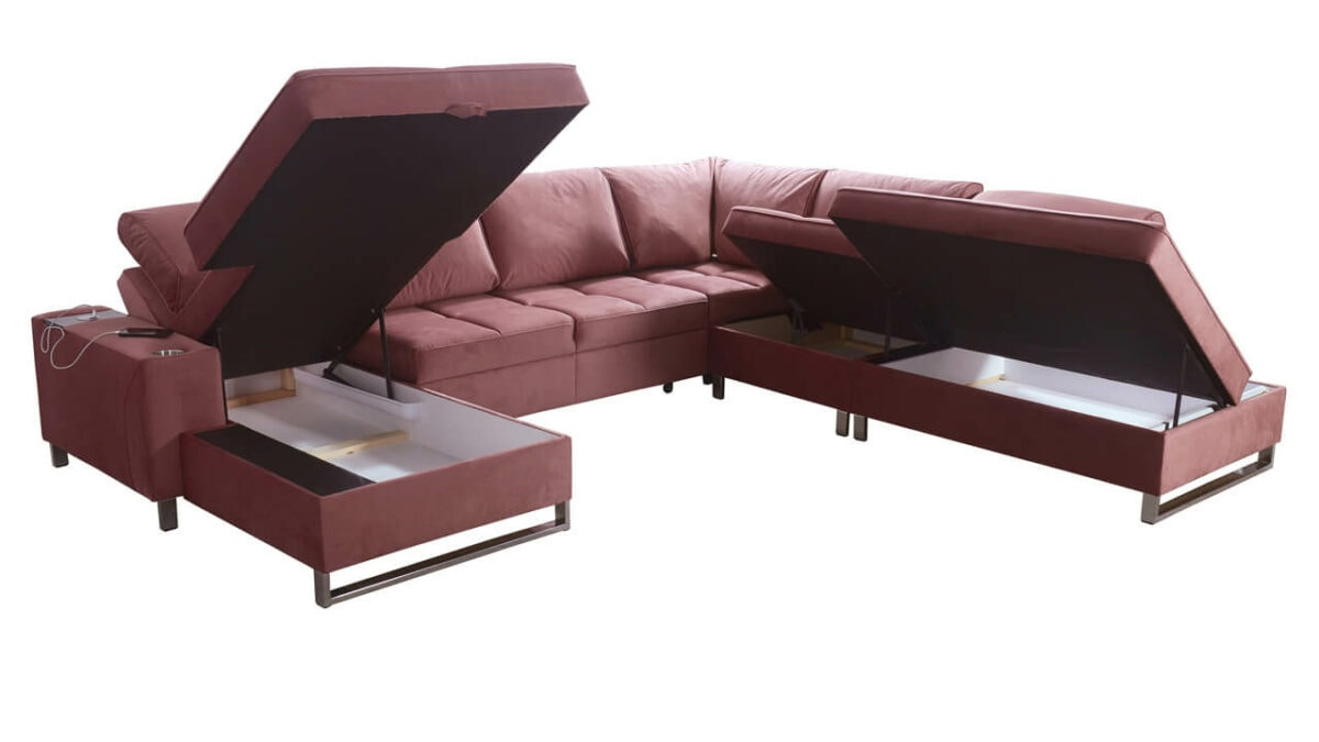 Sedací souprava HERMOS IX Úložní prostor, vyhody sedacek ve tvaru u