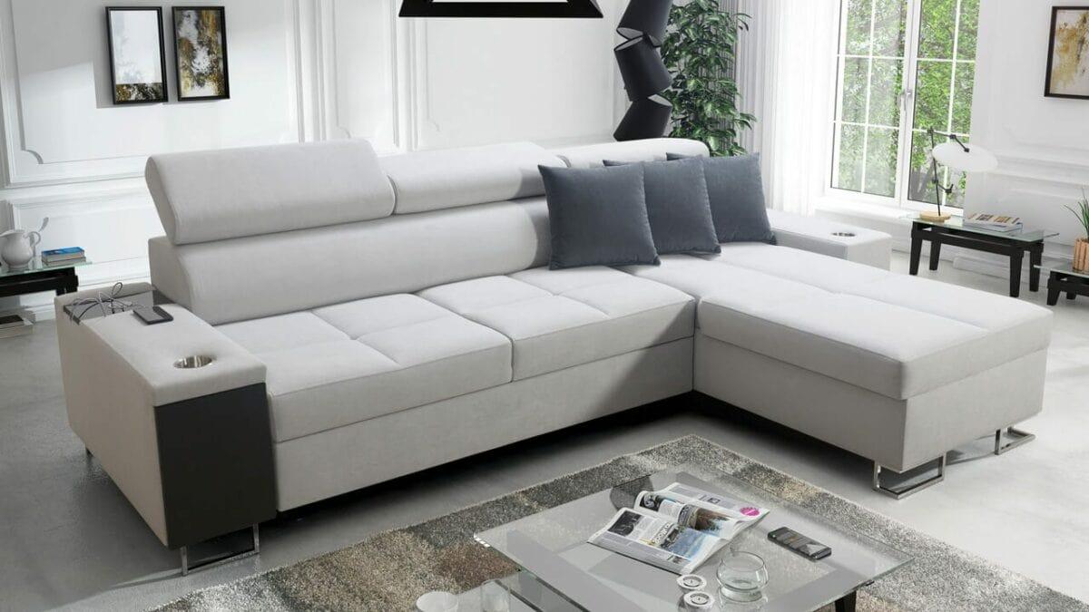 Rohová sedačka s úložným prostorem MURENA I MAXI