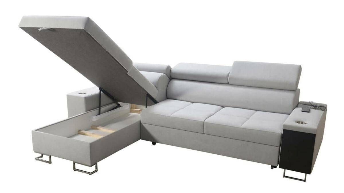 Rohová sedačka MURENA I MAXI Úložný prostor