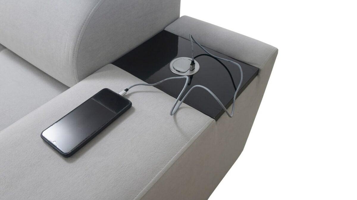 Rohová sedačka MURENA I MINI Nabíjecí stanice