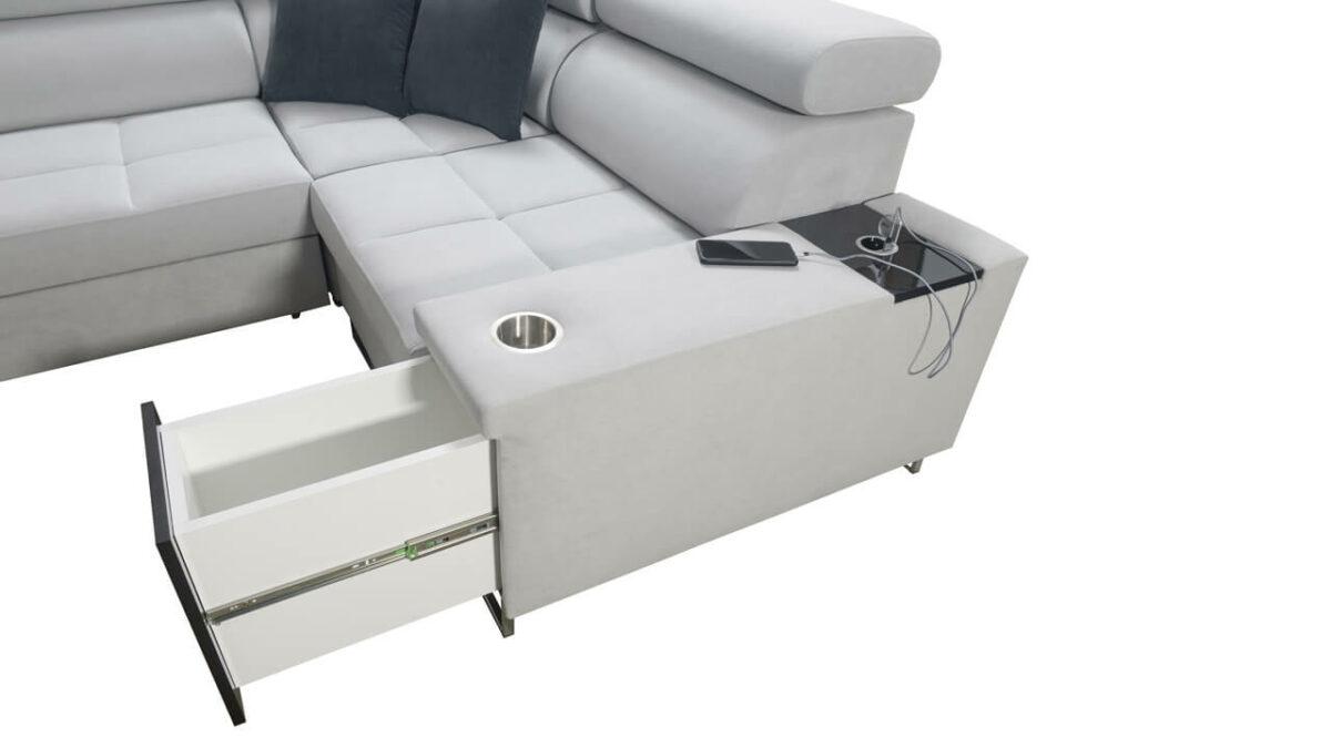 Rohová sedačka MURENA II Minibar