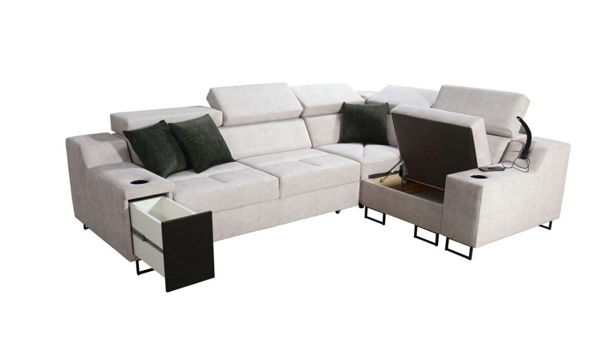 Rohová sedačka Alicanto II úložný prostor