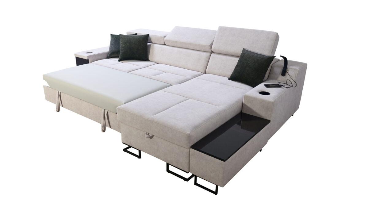 Rohová sedačka Alicanto I maxi rozkládání