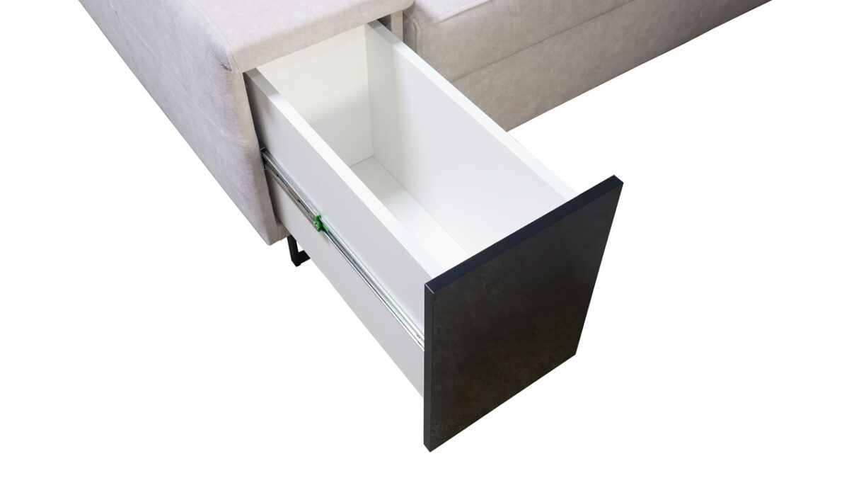 Rohová sedačka Alicanto I mini minibar