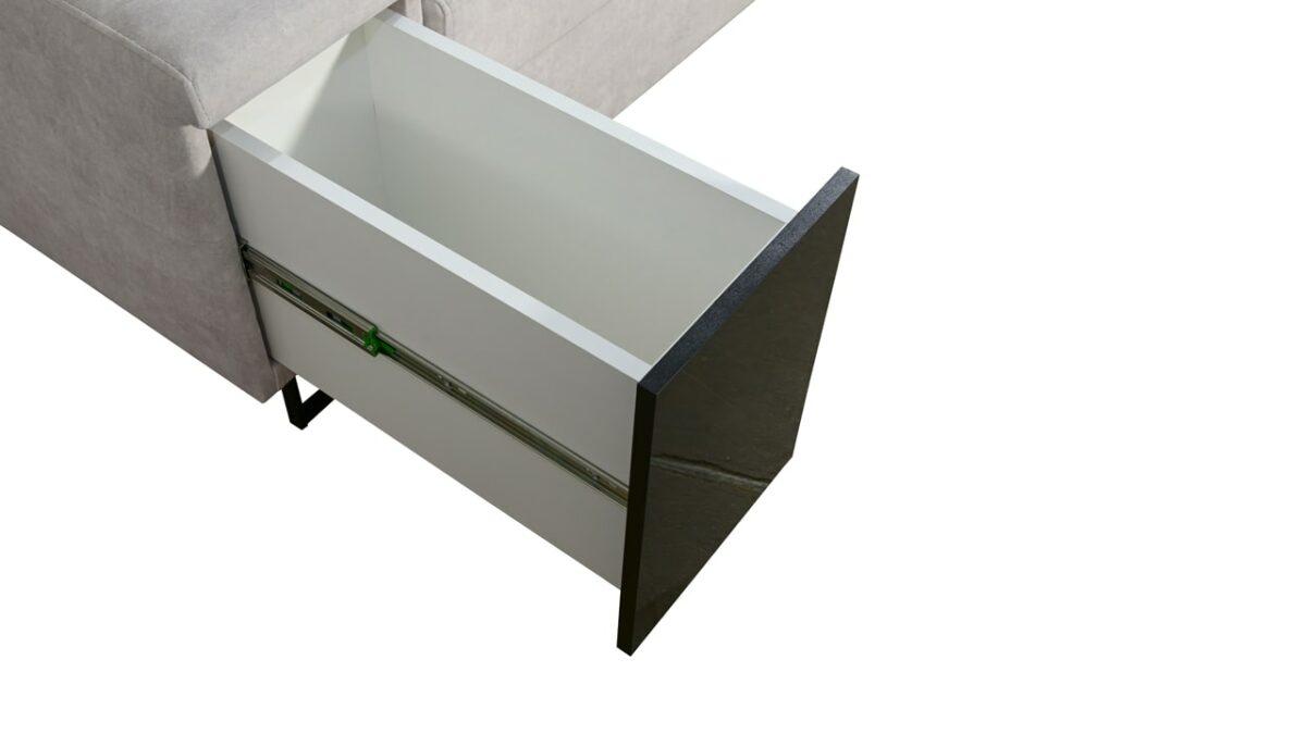 Sedačka ve tvaru U Alicanto IV maxi minibar
